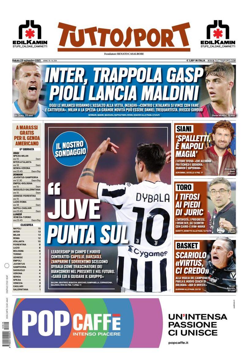 Сакки хорош! Заголовки Gazzetta, TuttoSport и Corriere за 25 сентября