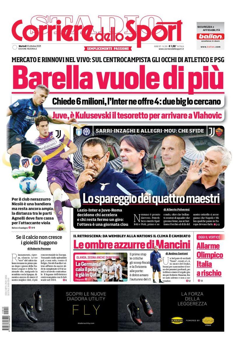 Куплю всех. Заголовки Gazzetta, TuttoSport и Corriere за 12 октября