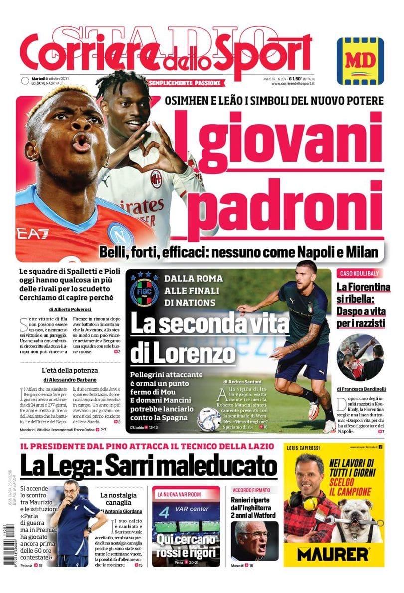 Молодые хозяева. Заголовки Gazzetta, TuttoSport и Corriere за 5 октября