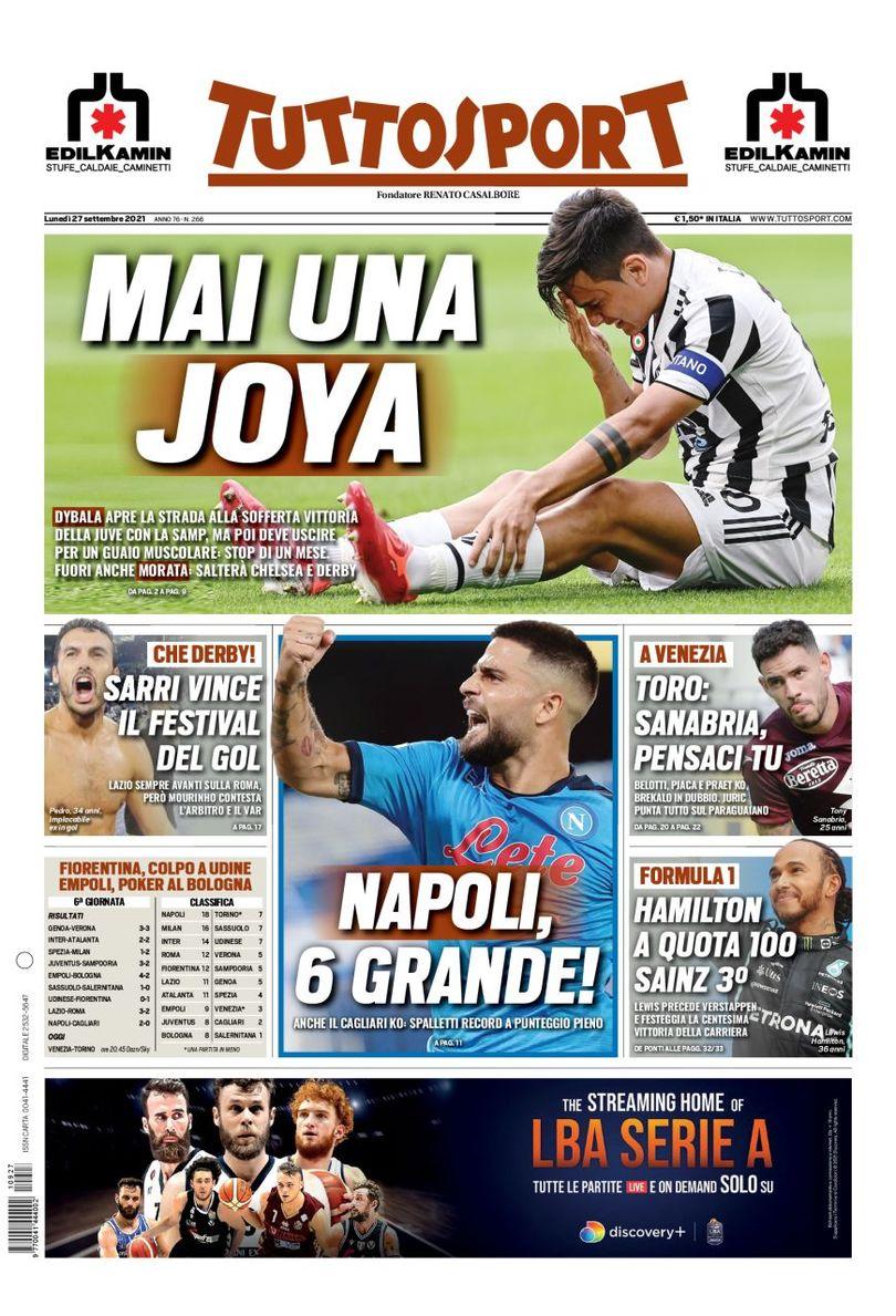 «Наполи» – это Осиландия. Заголовки Gazzetta, TuttoSport и Corriere за 27 сентября