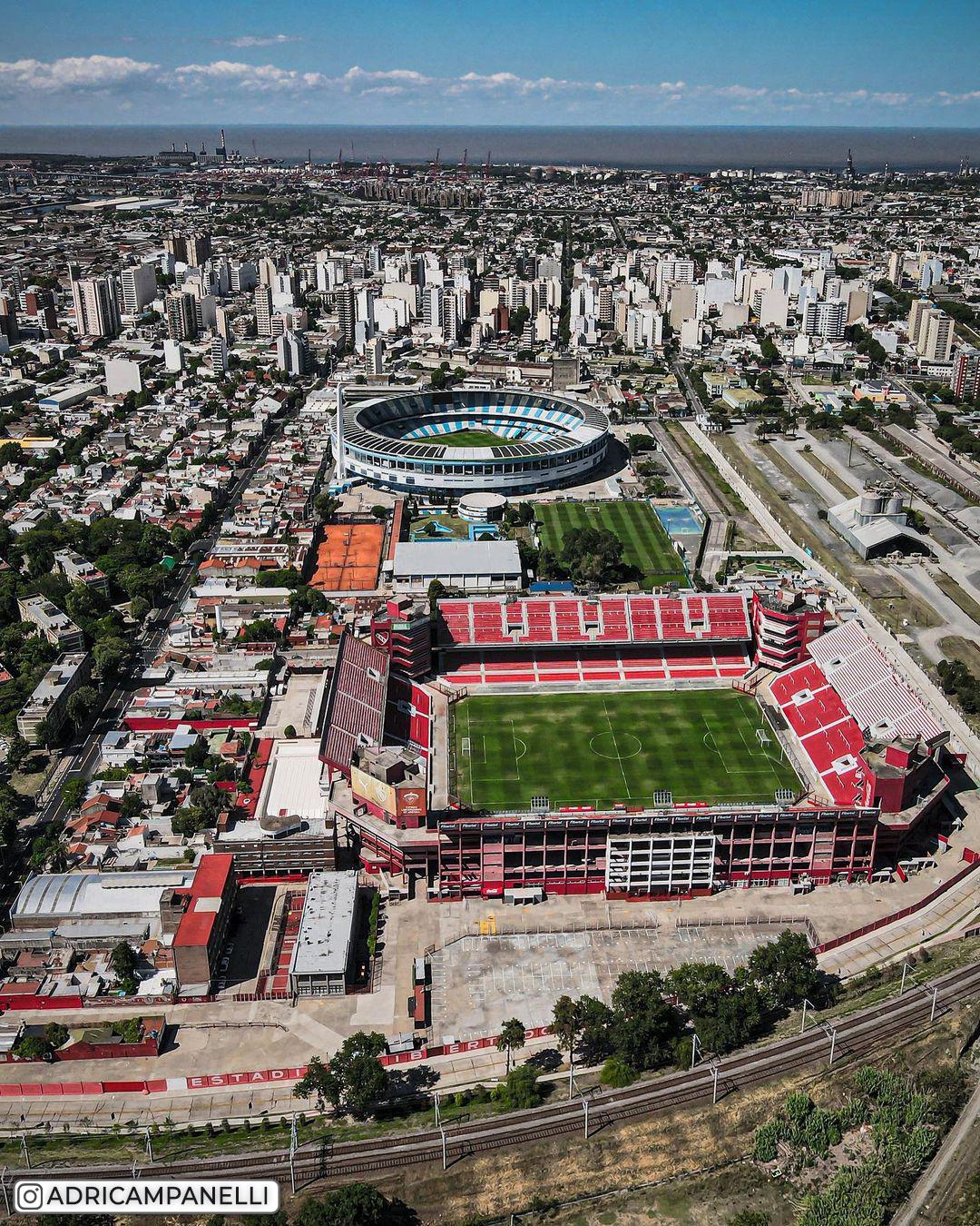 «Президент Хуан Доминго Перон» — один из самых красивых стадионов Аргентины. Коллекция фотографий с дронов