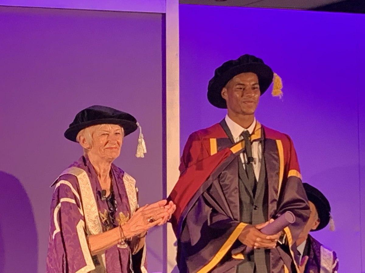 Рэшфорду дали почетную степень Манчестерского университета – в благодарность за поддержку школьников из бедных семей