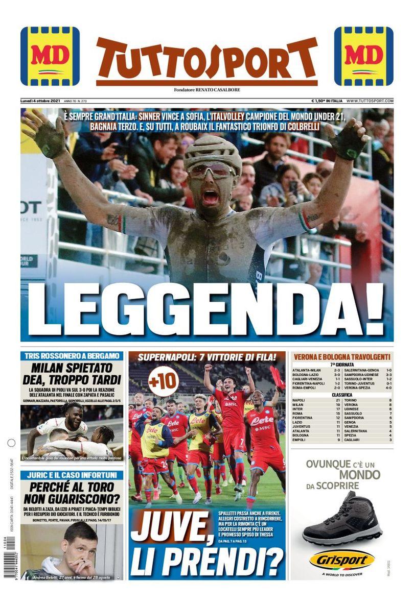 «Милан», прекрасная сила. Заголовки Gazzetta, TuttoSport и Corriere за 4 октября